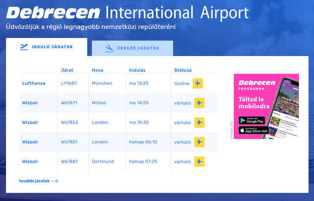 debreceni repülőtér - airport