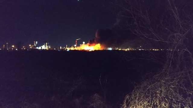 Tiszaújváros - tűz