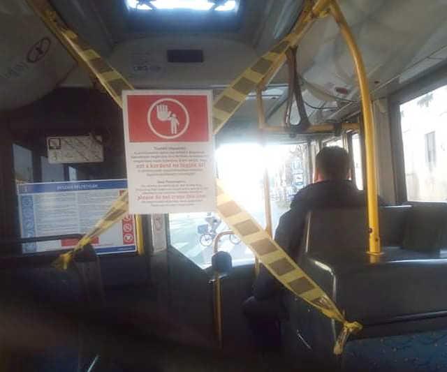 koronavírus - autóbusz
