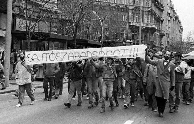 Sajtószabadság - 1988. március 15.