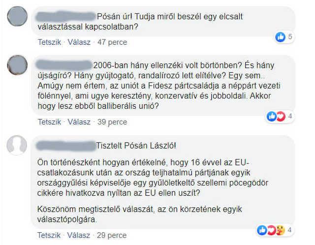 Pósán László - Facebook-kommentek