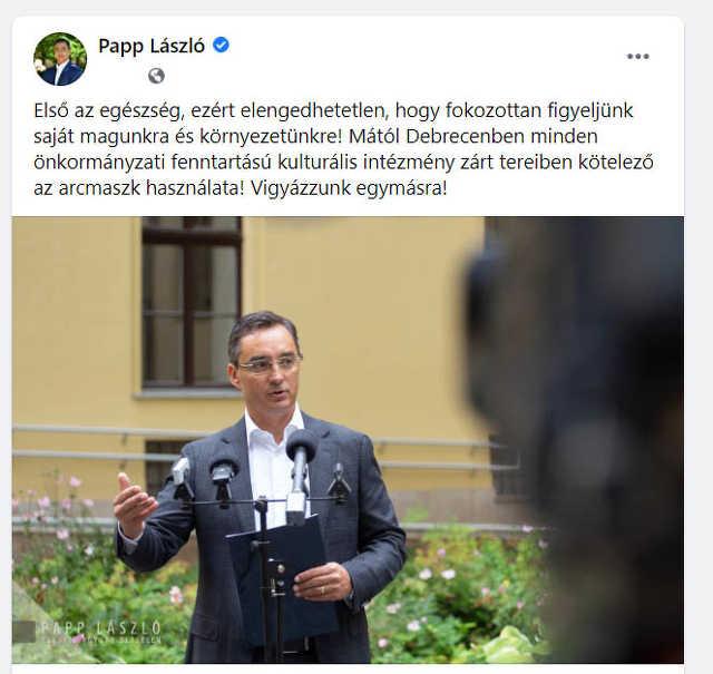 koronavírus - Papp László