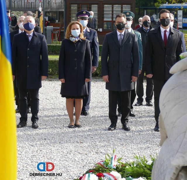 Debreceni koszorúzás 2020. október 23-án