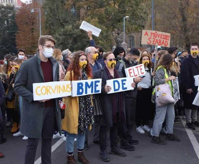 SZFE-demonstráció Budapest 2020. október 23.