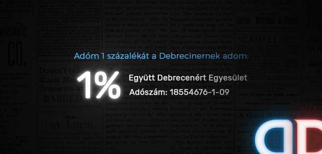 Debreciner - egy százalék