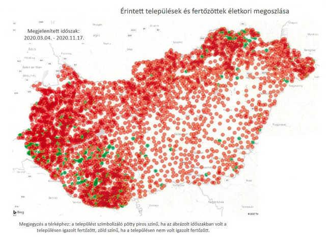 koronavírus - települések
