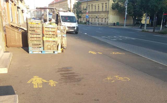 kerékpárút - belváros