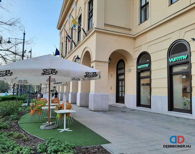 Belvárosi teraszok Debrecenben - 2021. április 23.