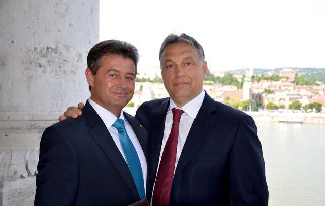 Tasó László és Orbán Viktor