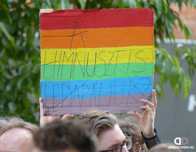 Tüntetés a homofóbia ellen – Debrecen, 2021. június 20.