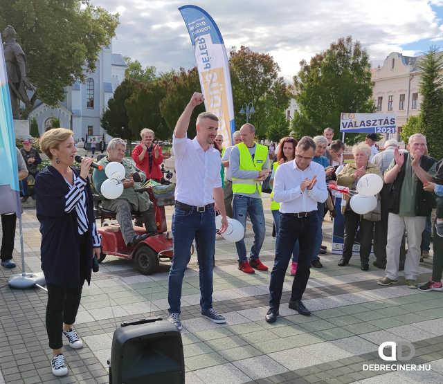 Hegedüs Péter és Jakab Péter előválasztási fóruma Hajdúböszörményben – 2021. szeptember 2.