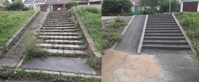 Jerikó utca - járda - útépítés