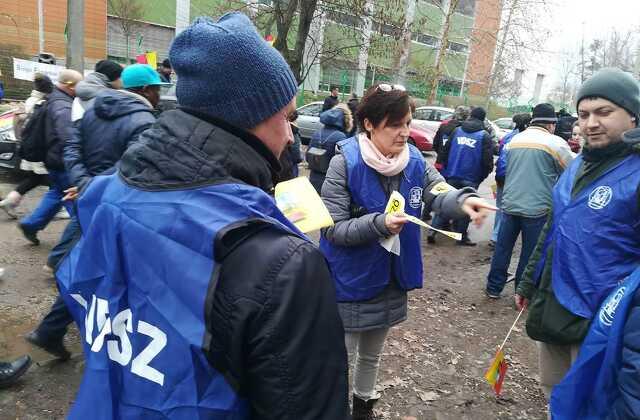 Teva - demonstráció - szakszervezet