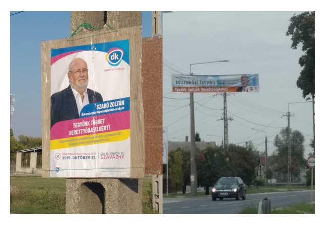 választás - plakát - Berettyóújfalu - DK