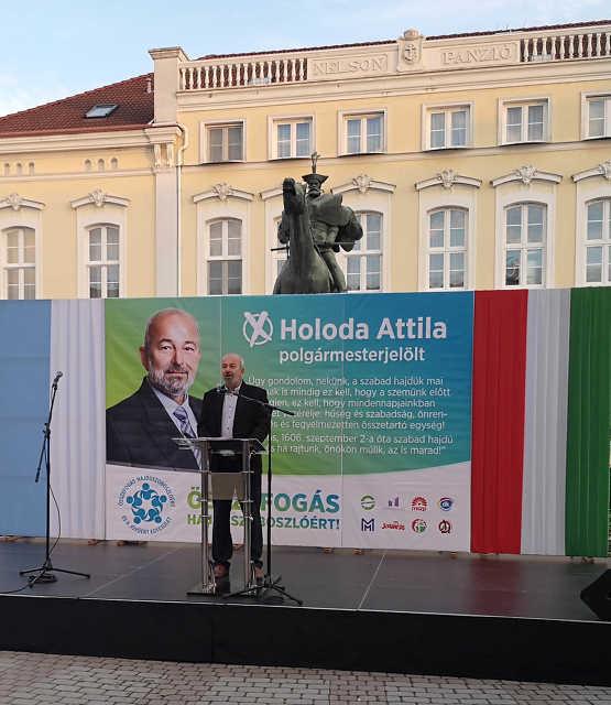 Holoda Attila választási nagygyűlése - Hajdúszoboszló
