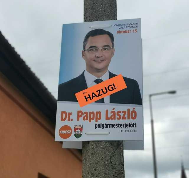 plakát - választás - Papp László - DK