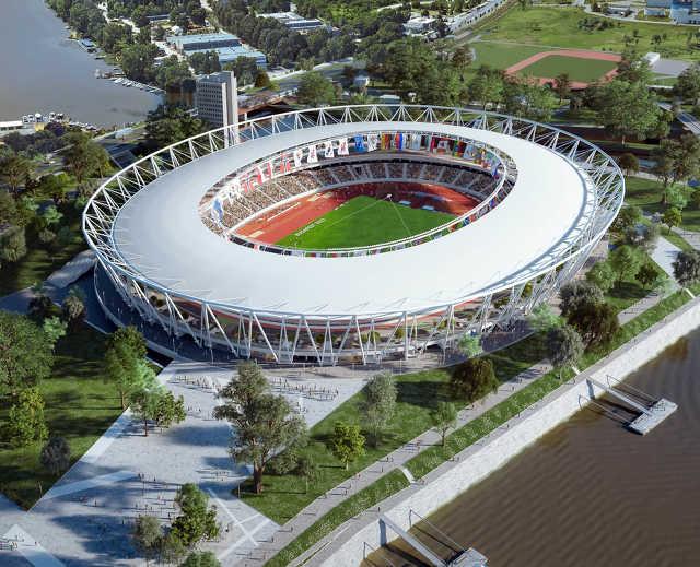 atlétikai világbajnokság - Budapest - stadion látványterv